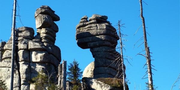 Felsformationen am Weg zum Hochstein