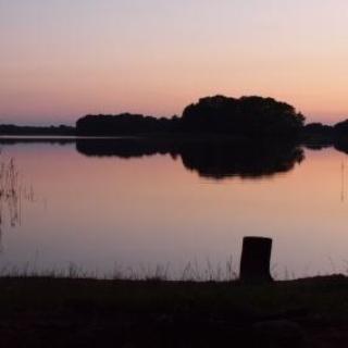 Sonnenuntergang am Großen Präßnicksee