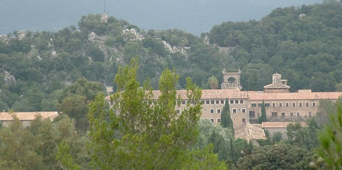 Das Kloster Santuari de Lluc.