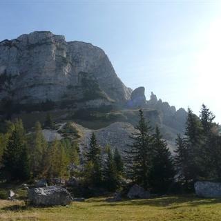 Der Sandling mit dem großen Felssturz von 1920
