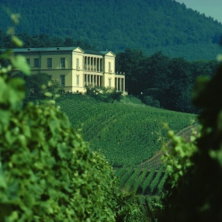 Das Schloss Villa Ludwigshöhe bei Edenkoben.