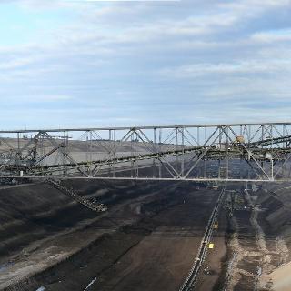 Die beeindruckende Förderbrücke F60 in Jänschwalde.