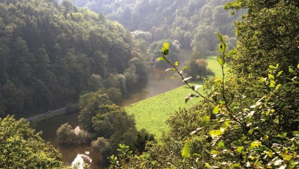 Eine wunderschöne Flusslandschaft erwartet uns.