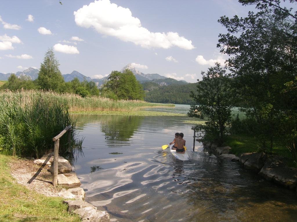 Der Weißenseebach mündet im Ortsteil Steigmühle in den Weißensee. - © Quelle: Outdooractive Redaktion