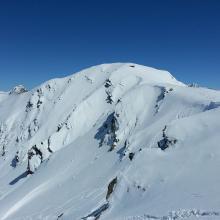 Blick zurück auf den Gipfel