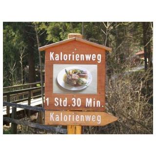 Das Schild am Startpunkt unserer Wanderung.