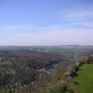 Der Blick von Landskrone in Richtung Werthofen.