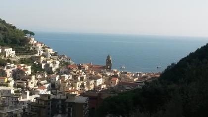 Kurz vor Pergola, Blick auf Amalfi