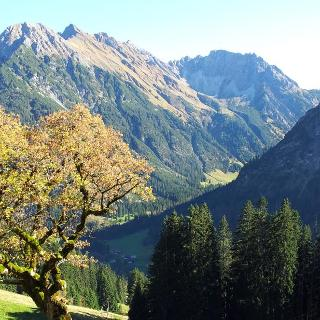 Blick vom Höhenweg Baad ins Kleinwalsertal