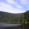 Der Große Arbersee mit Blick auf die Karwand.