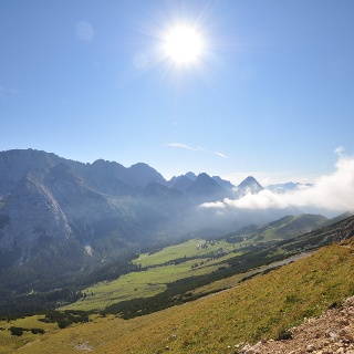 Impressionen beim Abstieg über das Gatterl Richtung Ehrwald - wem da das Herz nicht aufgeht...