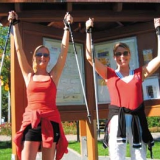Nordic Walking Startpunkt Gesundheitspavillon