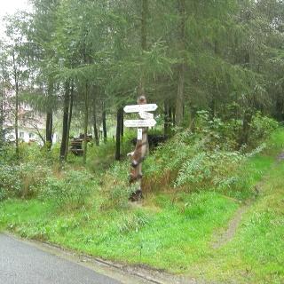 In Bischofsgrün sind alle Wege gut ausgeschildert.