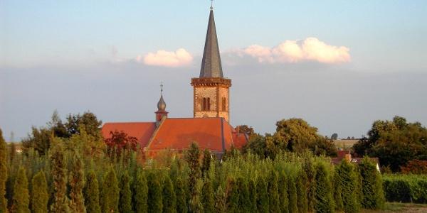 Die Simultankirche in Pfeddersheim.