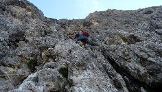Der Klettersteig verlangt ständig eine gute Klettergewandtheit.