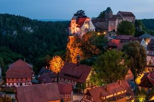 Foto Hohnstein bei Nacht