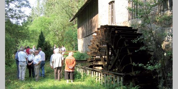 Im schönen Wallhalbtal radeln wir an vielen Mühlen vorbei.