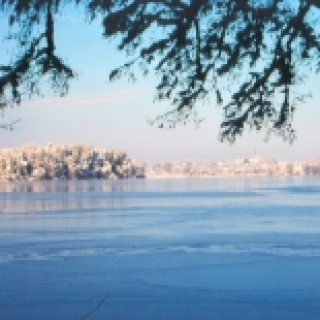 Abtsdorfer See im Winter