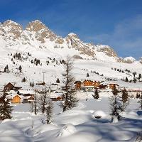 Malerische Winterlandschaften in Trevalli