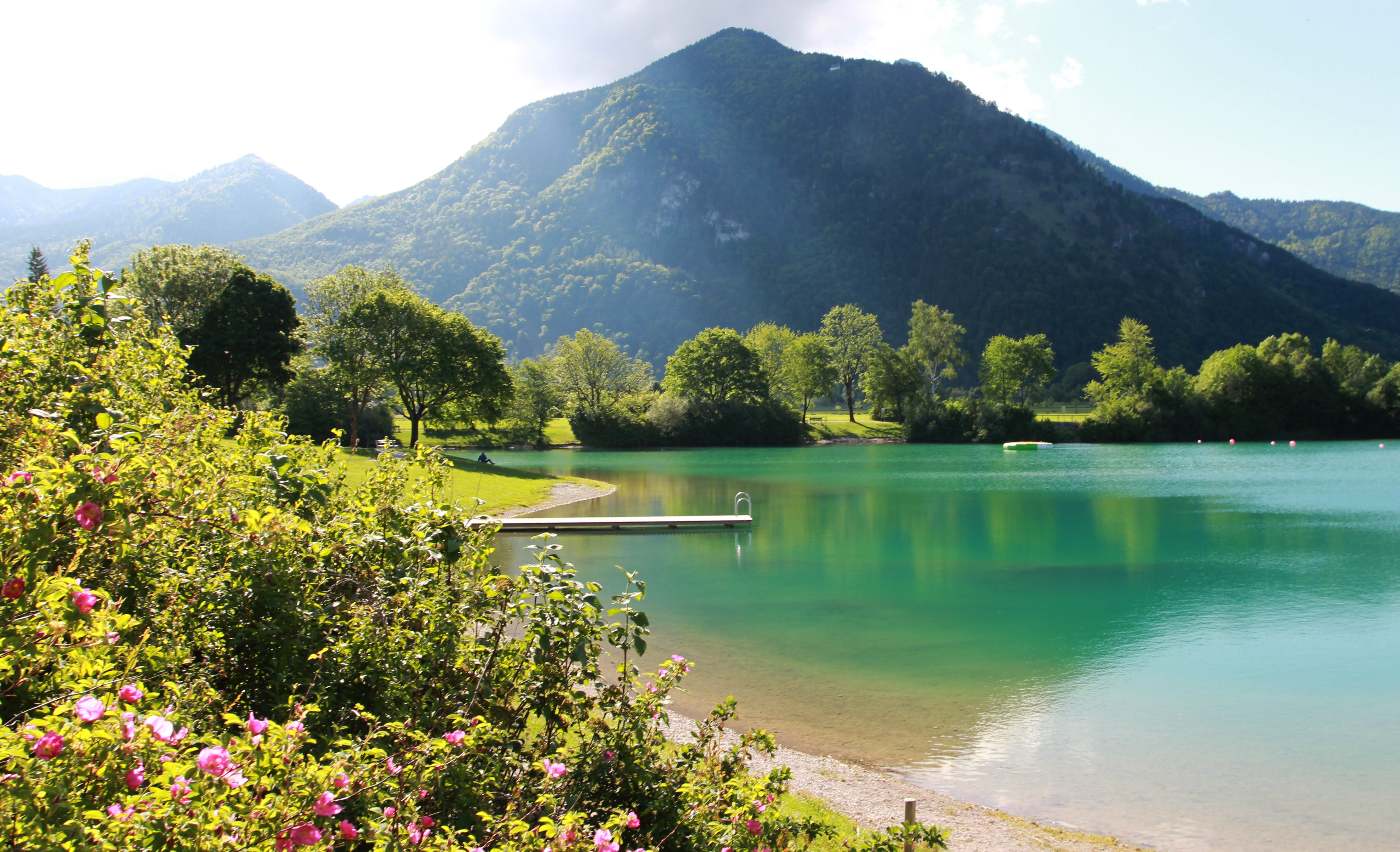 Der nahe gelegene Reifinger See