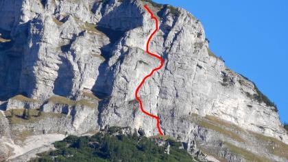 Loser Südwand - Routenverlauf