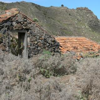 Verfallene Häuser von Las Moradas