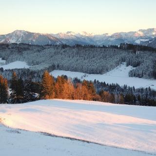 Sonnenuntergang auf dem Hauchenberg