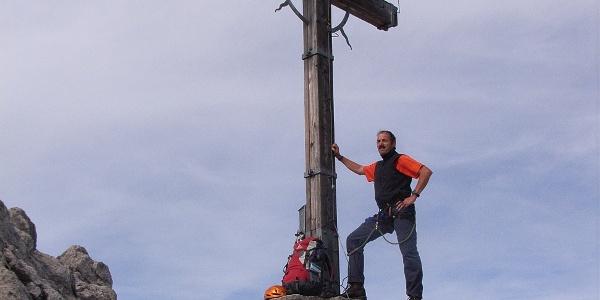 Am Gipfel des Saulakopfes.