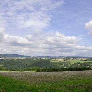 Blick über die Hunsrückhöhe bei Oberhausen und Hennweiler.