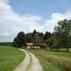 Einzelne Höfe und weite Natur prägen das Bild nördlich von Wiesenfelden.