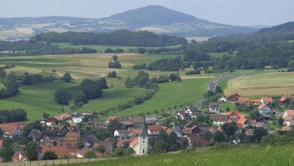 Die Ortschaft Geroda am Rand der Schwarzen Berge.