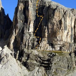 Routenverlauf und Zustieg über das breite Band