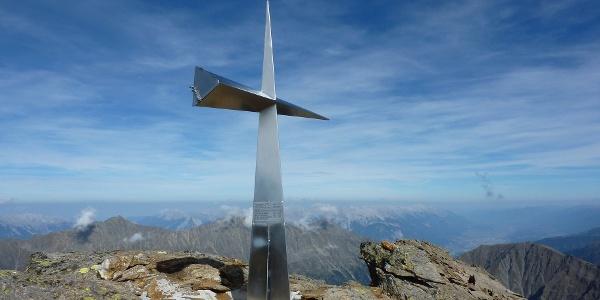 Gipfelkreuz Haidenspitze 2975 m