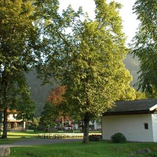 Der Kurpark Bayrischzell ist Start- und Endpunkt unserer Tour.