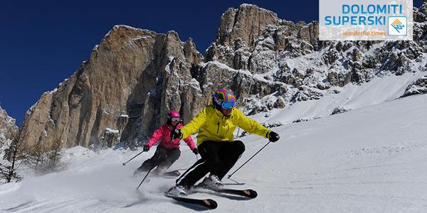 Pistenvergnügen im Skiverbund Dolomiti Superski