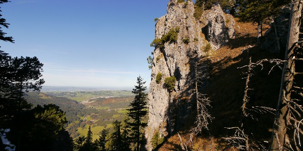 Blick vom Aufstieg ins Alpenvorland