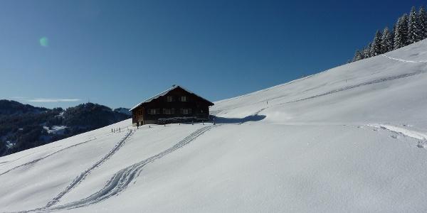 Obere Socher Alpe im Winter.