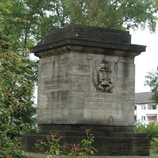 Gedenkstein im Friedenspark