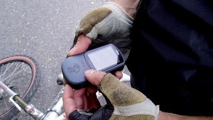 Das GPS erleichtert uns die Orientierung.