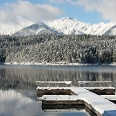 Winter am Eibsee.