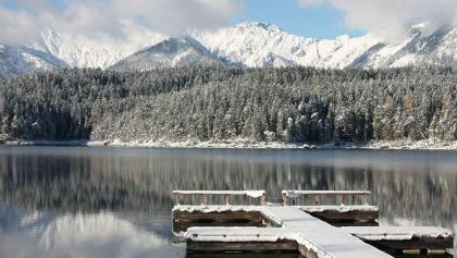 Winter am Eibsee.