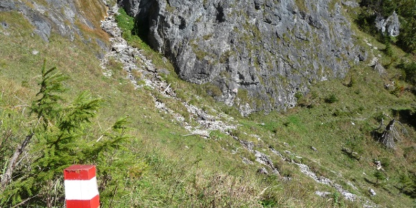 """Der """"Wasserfall"""" von links oben"""