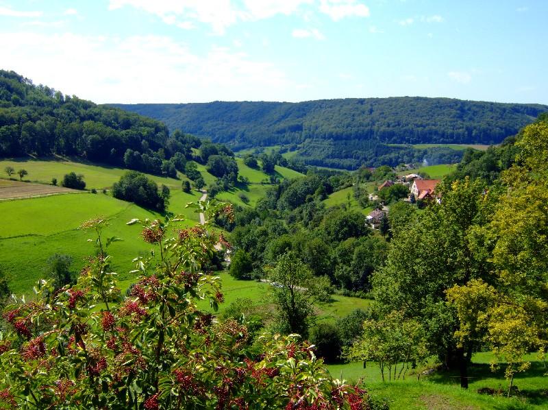 Blick ins Kochertal   - @ Autor: Heinz Obinger  - © Quelle: Hohenlohe + Schwäbisch Hall Tourismus e.V.