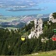 Wir genießen einen herrlichen Ausblick auf das Chiemgau.