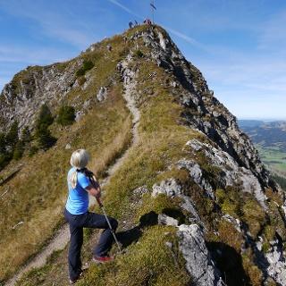 Die letzten Meter des Gamsbocksteigs bis zum Gipfel der Krinnenspitze.