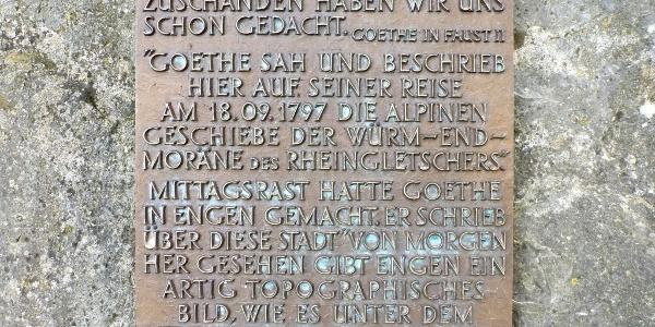 Gedenkstein für Goethes 3. Reise in die Schweiz