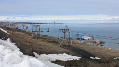 Blick über Advent- und Isfjord