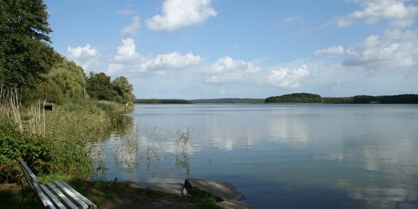 Vom Richtberg aus haben wir einen weiten Ausblick über den Schmollensee.