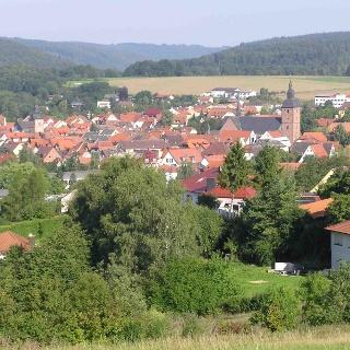 Blick auf Buchen (Odenwald)