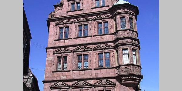 """Ansicht der Stirnseite vom """"Alten Rathaus"""" zu Gernsbach"""